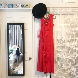 Red Anthropologie dress 👗